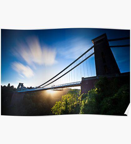 Clifton Suspension Bridge - Bristol - England Poster