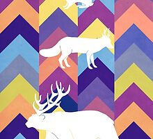 Antlers & Chevrons - Cool by maxinefeen