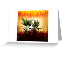 Plant on sunset Greeting Card