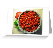Grape Tomatoes - Moby Grape Greeting Card