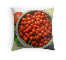 Grape Tomatoes - Moby Grape Throw Pillow
