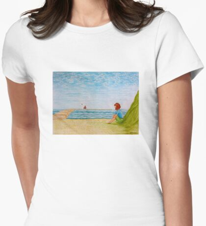 Sea shore Womens Fitted T-Shirt