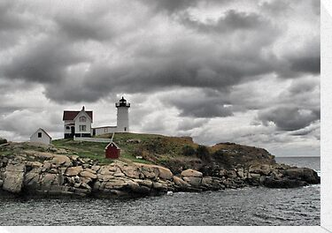 Cape Neddick Lighthouse by Monnie Ryan