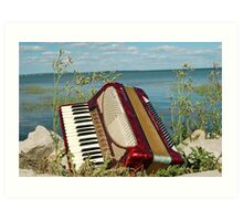 The Red Accordion Art Print