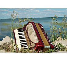 The Red Accordion Photographic Print