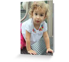 update on Isabella Greeting Card