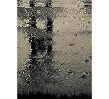 Are we just shouting at the pain?...or do we see just what we are?...We're naked in the rain Photographic Print