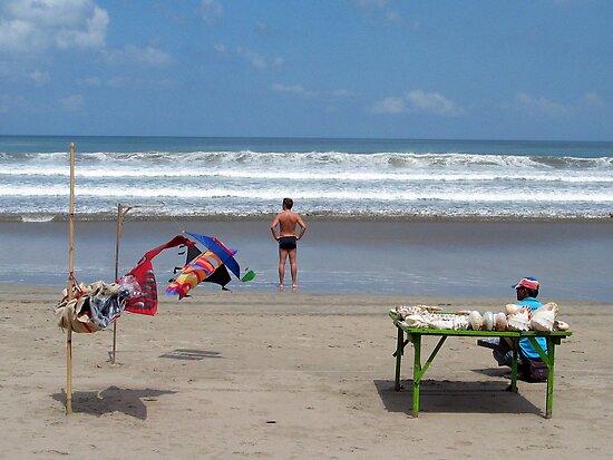 beautiful beach at Legian, Bali by geof