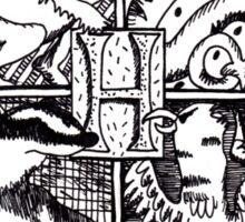 Hand Drawn Hogwarts Crest Sticker