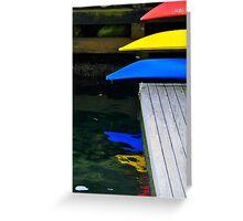 Tips of Kayaks, Camden, Maine Greeting Card
