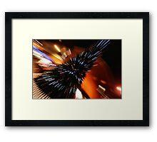 Zoom Burst Framed Print