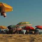 Parasols on La Playa, Roche, Spain by sofiesofie