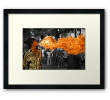 Fire Ball Show (Please Enlarge) Framed Print