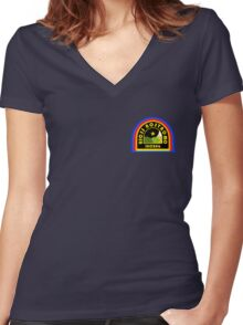 Nostromo Patch Women's Fitted V-Neck T-Shirt