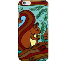 WOODLAND FRIENDS - THE RED SQUIRREL iPhone Case/Skin