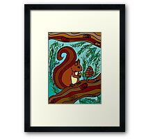 WOODLAND FRIENDS - THE RED SQUIRREL Framed Print
