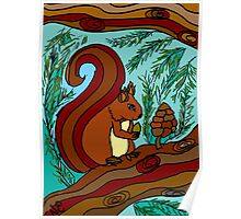 WOODLAND FRIENDS - THE RED SQUIRREL Poster