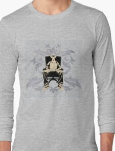 a sitting portrait Long Sleeve T-Shirt