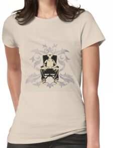 a sitting portrait Womens Fitted T-Shirt