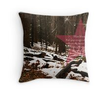 Smoky Mountains Christmas Throw Pillow