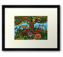WOODLAND FRIENDS - SPRING Framed Print