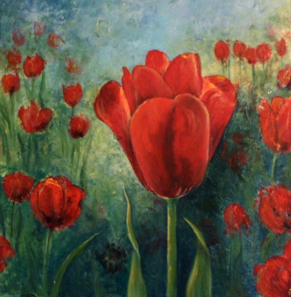 Red Tulips by petrapols