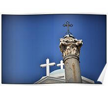 Greece - KOS - Crosses on the main square Poster