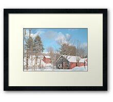 Snowy Winter Day Framed Print