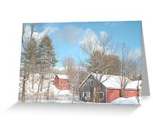 Snowy Winter Day Greeting Card