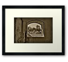 Inside the Bunker Framed Print