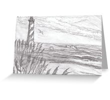 cape hatteras light house Greeting Card