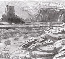 the high mesas of the colorado plateau in AZ by richard tanzer