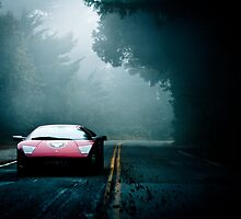 Through the Fog - Murcielago by Mo Satarzadeh