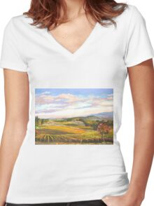 An Evening in Tuscany Women's Fitted V-Neck T-Shirt