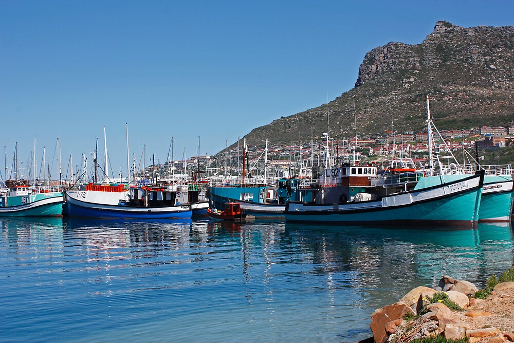 Hout Bay harbour by Etwin