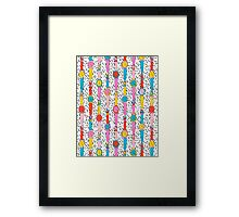 Happenin' - throwback 1980's style art print swatch watch retro vintage hipster dorm decor urban brooklyn street Framed Print