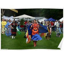 women dancers at the Kee=Boon- Mein-Kaa pow wow Poster