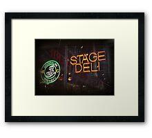 Stage Deli Framed Print