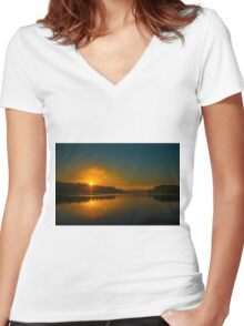 Morning reflection Women's Fitted V-Neck T-Shirt