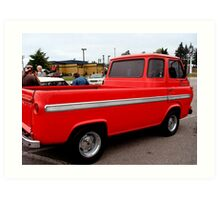 Red Ford Panel Pick Up Truck Art Print