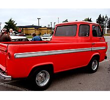 Red Ford Panel Pick Up Truck Photographic Print