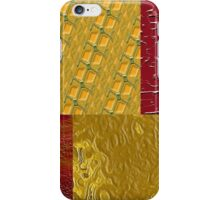 Orange and Red Patches iPhone Case/Skin