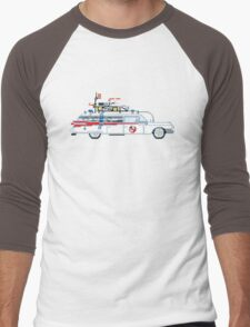 Ecto 1 - Ghostbusters Pixel Art Men's Baseball ¾ T-Shirt
