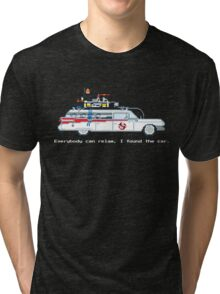 Ecto 1 - Ghostbusters Pixel Art Tri-blend T-Shirt
