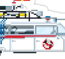 Ecto 1 - Ghostbusters Pixel Art Sticker