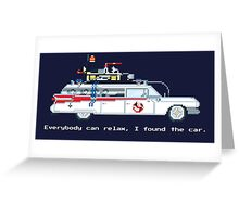 Ecto 1 - Ghostbusters Pixel Art Greeting Card