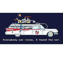 Ecto 1 - Ghostbusters Pixel Art Photographic Print