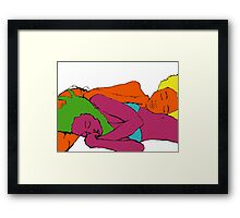After the Beach print Framed Print