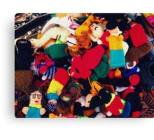 Finger puppets Canvas Print