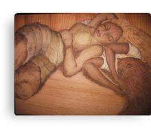 Sleeping Sisters Canvas Print